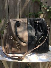Steve Madden Black/Tan Colorblock Large Handbag