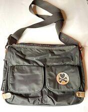 Tokidoki Dark Grey Messenger Crossbody Shoulder Bag with Rainbow Zipper