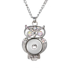 Hot Women Jewelry Necklace Pendant Fit 18mm Noosa Snap Button Owl