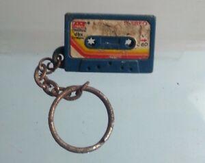 vintage Blue Alantic Records cassette Tape  keyring Rare