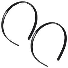 2 Pcs Black Plastic Frame Dual Row Teeth Hair Hoop Head Band for Girls SH E V5B1