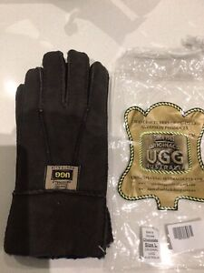 Ugg Mens Sheepskin Gloves, Size L, Chocolate Colour, Brand New Tags RRP $129.95