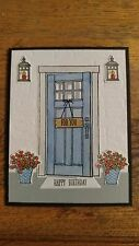 Handmade Happy Birthday card kit, House Front Door, Stampin Up! At Home With You