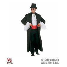 Mantel-Umhang mit Jabot und Bauchbinde Vampir Graf Kostüm XL Halloween Karneval