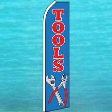 Tools Flutter Flag Tall Curved Top Feather Swooper Banner Advertising Sign