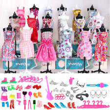 Fashion Mini Dresses Clothes Outfits Sets RANDOM Styles Barbie Doll Gift 85Pcs