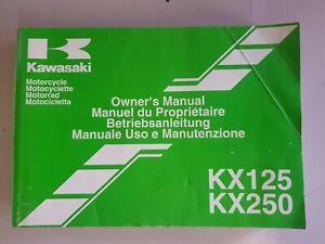 Kawasaki KX125 M1  KX250 M1   Owners Manual Handbook