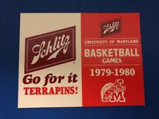 Maryland Terrapins Basketball 1979-80 Pocket Schedule Schlitz Beer
