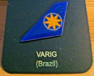 VARIG  AIRLINE AIRWAYS (BRAZIL) TAIL PIN BADGE (last one)