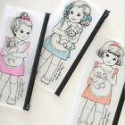 1Pcs Beautiful Lovely Hot Case Girl PVC Cartoon Pencil Supplies New 2017 School