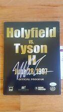 Mike Tyson Signed Holyfield Program JSA Witnessed COA