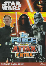 TOPPS STAR WARS Force Attax Awakens EXTRA COMPLETE SET OF138 CARDS LOOSE