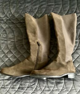 Aetrex suede and textile riding boots - size 6.5 (C/D)