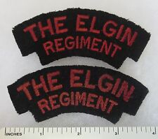 THE ELGIN RIFLES - PAIR of OLDER Vintage CANADIAN ARMY SHOULDER FLASH PATCHES