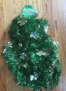 12 Ft Long St Patricks Day Garland Tinsel Green & Gold Party Decoration Shamrock