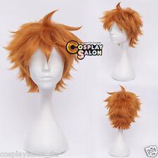Anime Volleyball Club Hinata Shouyou Cosplay Wig Perücke Orange Kurz Haar 30cm