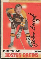 Johnny Bucyk 1970 OPC Autograph #2 Bruins