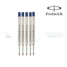 5X Parker Quink Fine Ball-Point Refill  (Blue) - New Free Shipping
