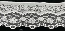 "Vintage 6"" Wide Lace Trim 4 yards Sewing Decorating Crafts Lot 3 White"