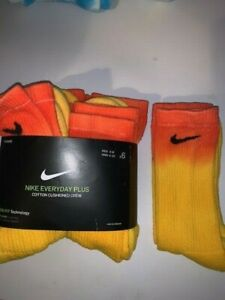 New ONE PAIR of Custom Tie Dye Nike Everyday PLUS Dr-Fit Socks Size 6-8 2 Styles