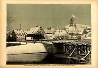 Nadelwehr in Breslau XL Kunstdruck 1920 von Siegfried Laboschin * Gnesen +