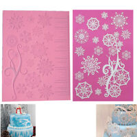 Snowflake Icicle Patterns Silicone Lace Fondant Cake Emboss Border Decor Mold