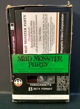 Mad Monster Party (BETAMAX) Magnetic Video #4046 (1979) Ex-Rental (NOT VHS)