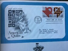 American Quilts US First Day Cover issued in Charleston, WV on March 8, 1978