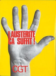 Originale Vintage Poster Generale Confederazione Di Labor Francia Occupazione