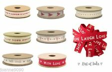 East of India Single-Sided Grosgrain Craft Ribbon