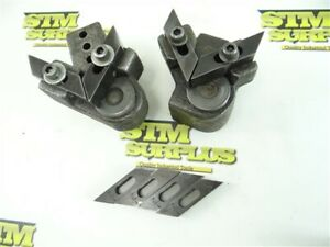 """PAIR OF BAND SAW BLADE GUIDES + 1/2"""" & 3/4"""" GUIDE INSERTS"""