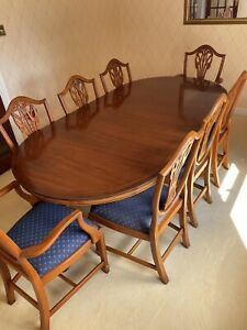 Yew Wood Dining Table And Chairs