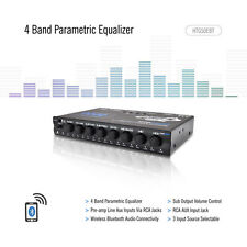 Lanzar HTG50EBT Wireless 4-Band EQ Parametric Equalizer w/Subwoofer Gain Control