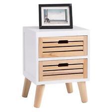 moderne nachttische nachtkonsolen aus holz mit 2 schubladen g nstig kaufen ebay. Black Bedroom Furniture Sets. Home Design Ideas