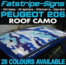 PEUGEOT 206 CAMO ROOF GRAPHICS STRIPES DECALS STICKERS GTI PUG 1.0 1.4 1.6 2.0