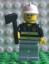 Neue Lego Minifigur Feuerwehrmann mit Axt (9247-17)   701