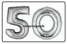 JUMBO 40 INCH FOIL NUMBER 50 50TH HELIUM BALLOON PARTY BIRTHDAYS BALLOONS EVENTS