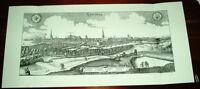 Lüneburg alte Ansicht Merian Druck Stich 1650 Panorama Städteansicht Niedersachs