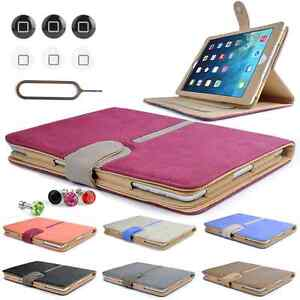 360 rotation Faux Suede Leather Stand Case Cover For Apple iPad 5 / iPad Air