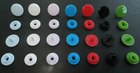100 or 50 Sets KAM Resin Snaps/Rivets/Poppers/Fasteners *7 Colours*T3 or SIZE 16