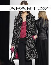 Mantel schwarz grau Gr 44 46