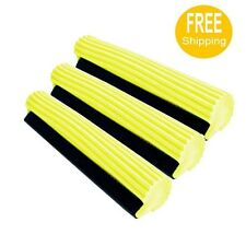3  PVA Sponge Foam Rubber Mop Head Refill Replacement Home Floor Cleaning