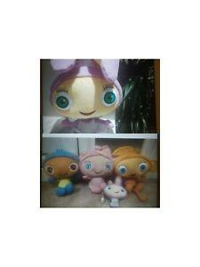Cbeebies Full set of large Waybuloo Soft Toys Nok Tok, Yojojo, De Li And Lau Lau