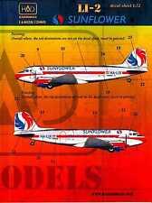Hungarian Aero Decals 1/72 LISUNOV Li-2 (DC-3) Malev Sunflower Aviation