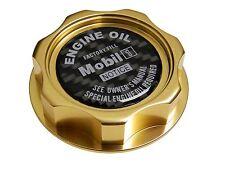 GOLD MOBIL 1 M7-STYLE JDM BILLET ENGINE OIL FILLER CAP FOR HONDA ACURA CF