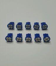 10pcs Blue T10 Wedge 4-SMD LED Dashboard Instrument Panel Gauge Light Bulbs