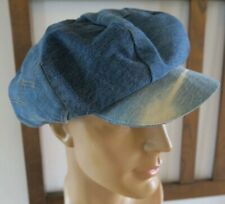 Vtg 60s 70s Camp Street Sf Levi'S Hat L Denim Newsboy Jeans Cap 8 Panel Jacksons
