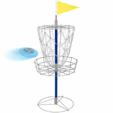 BCP Portable Disc Golf Basket Double Chains Steel Frisbee Hole