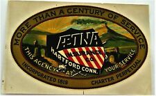 """Fantastic Patriotic Vintage Decal for """"AETNA"""" Insurance Co. w/ US Shield  *"""