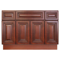 """48"""" Bathroom Vanity Sink Base Cabinet Maple Cherryville by LessCare"""